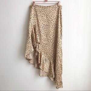 Forever 21 cheetah asymmetrical Skirt